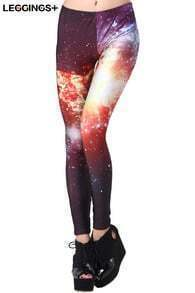 ROMWE Galaxy Print Leggings