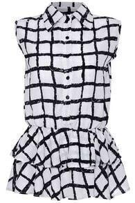 Black And White Plaid Print Shirt