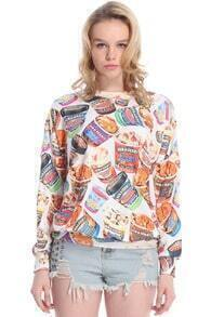Ice Cream Print Sweatshirt