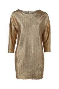 Gold Metallic Look Blouse