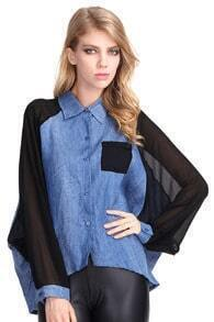 Chiffon Detailed Anomalous Shirt