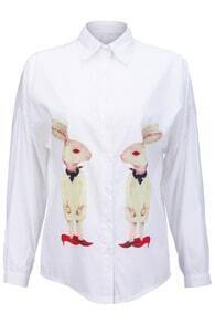 Cute Rabbits White Shirt