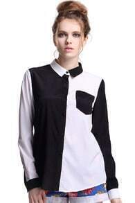 Black and White Symmetric Shirt