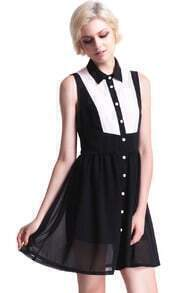 Black And White Cut-out Dress