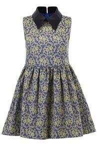 Yellow Floral Print Shift Dress