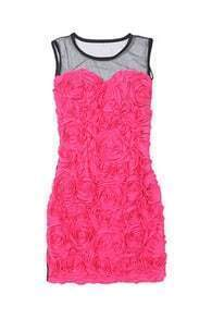 Stereo Rose Flower Rose Dress