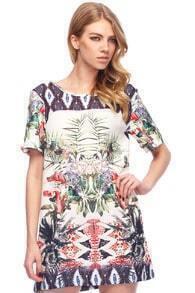 Floral Print Loose Dress