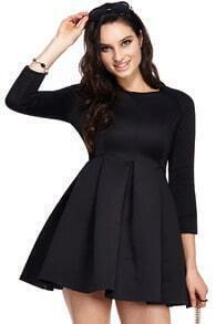 Flouncing Black Dress