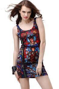 Printed Design Bodycon Dress