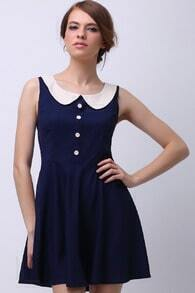 Peter Pan Collar Sleeveless Dress