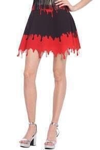 Dropping Blood Print Black Skirt