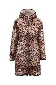 Leopard Longline Quilted Coat