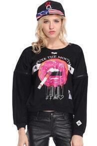 Smoking Big Mouth Black Pullover