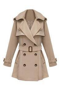Slim Medium Style Khaki Trench Coat