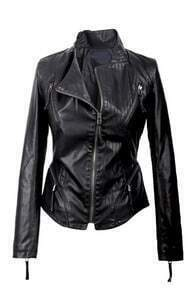 Slim Fit Ziped Waist Biker Jacket