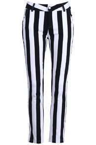 Black And White Strip Pants