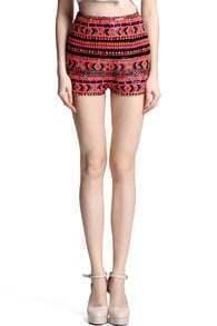 Ethnic Sequined Shorts