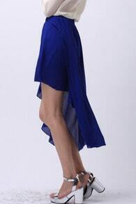 Royal Blue High Low Skirt