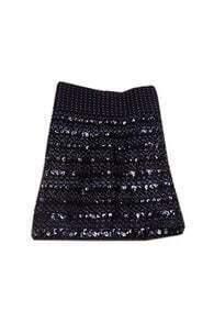 Paillette Embellished Slim Black Skirt