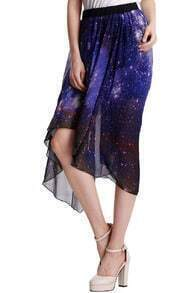 Starry Night Asymmetric Skirt