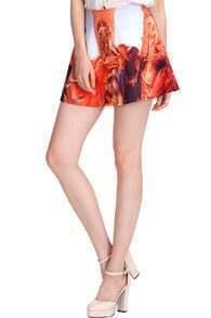 Painting Print Umbrella Skirt
