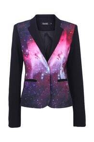 Starry Night Print Blazer
