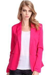 Single-breasted Rose Blazer