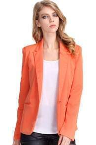 Single-breasted Orange Blazer