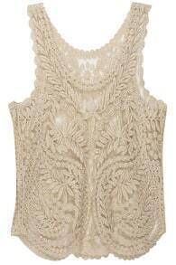 Spun Gold Lace Crochet Vest