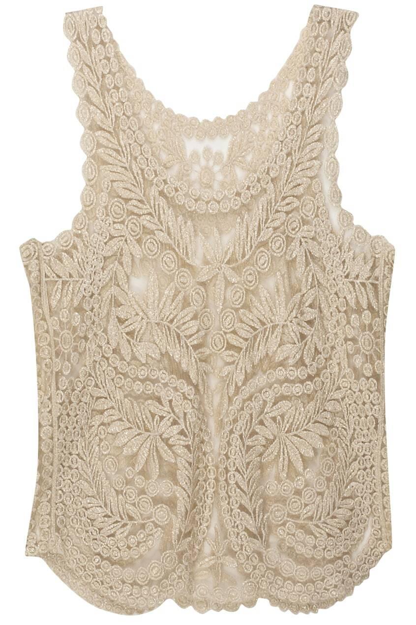 Free Crochet Pattern Lace Vest : Spun Gold Lace Crochet Vest