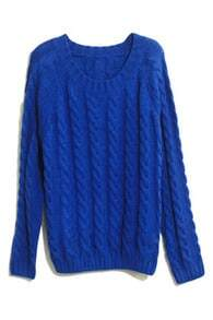 Retro Blue Jumper