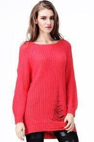 Loose Broken Holes Red Jumpers