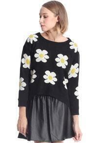 Daisy Knitted Black Jumper