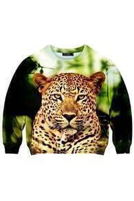 This Is Print The Cute Leopard Print Sweatshirt
