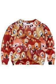 This Is Print Plentiful Bambi Printed Sweatshirt