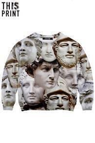 This Is Print Greek God Sculpture Print Long-sleeved Sweatshirt