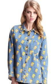 Simpson Light Blue Shirt