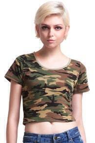 Camouflage Green Midriff T-shirt