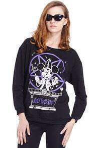 Sorcerer Mickey Mouse Long Sleeve Black Sweatshirt