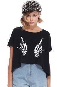 Skull Hand Black T-shirt