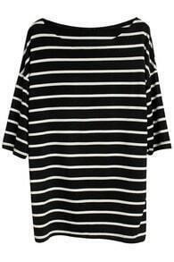 Oversize Black Stripe T-Shirt