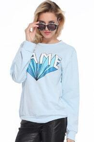 LAME Printed Blue Pullover