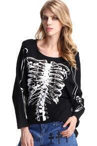 Skeleton Print Pull-Over