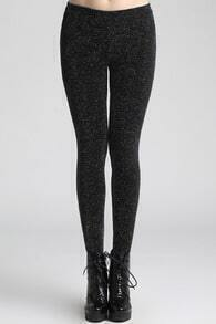 Retro Knitted Black Leggings