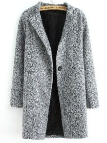 manteau Tweed bouton unique -gris