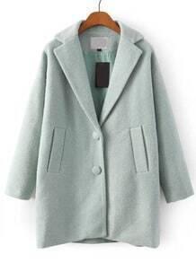 Lapel Pockets Woolen Coat