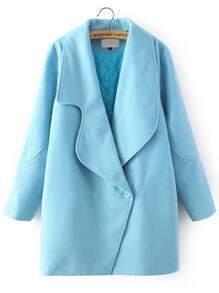 Lapel Loose Woolen Blue Coat