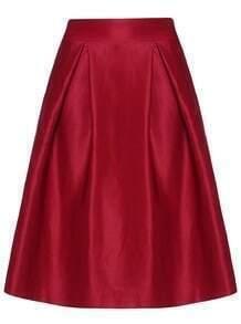 Flouncing Midi Wine Red Skirt