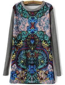 Totem Print Green Knit Dress