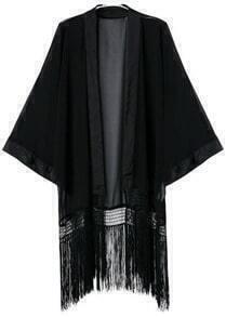 Batwing Tassel Chiffon Kimono